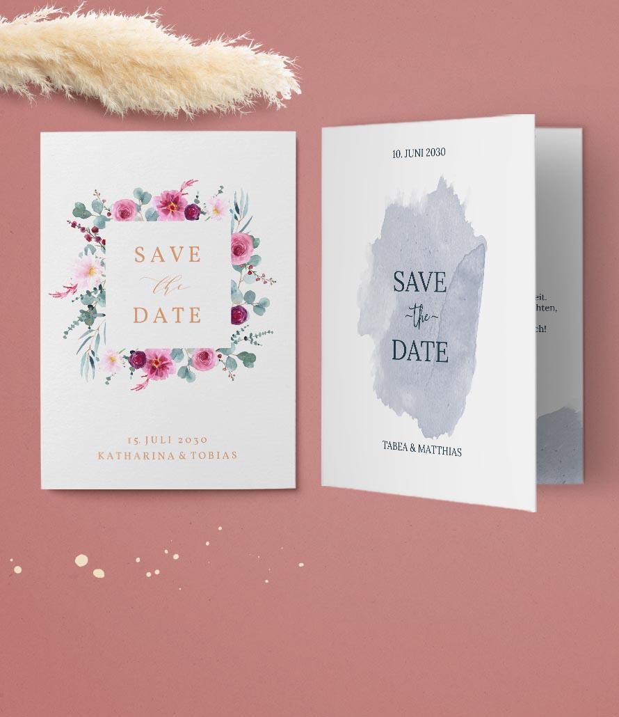 Hochzeitskarten - Save-The-Date Karten