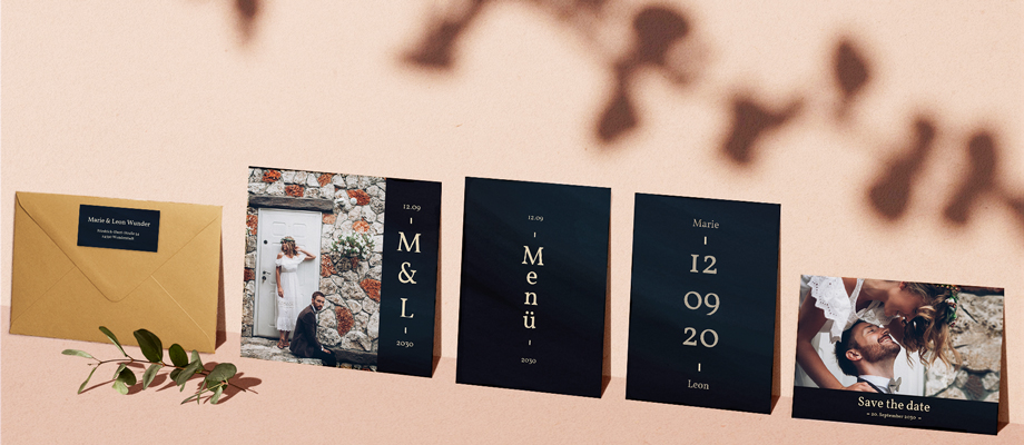 Hochzeitskarten - Sets zur Hochzeit
