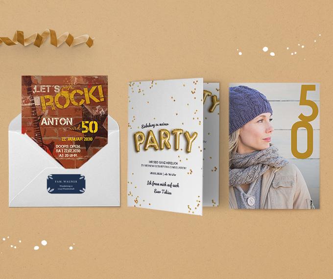 Einladungskarten 50. Geburtstag