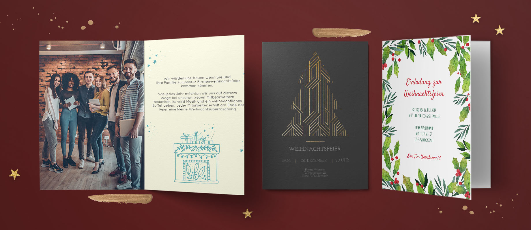 Firmen Weihnachtskarten