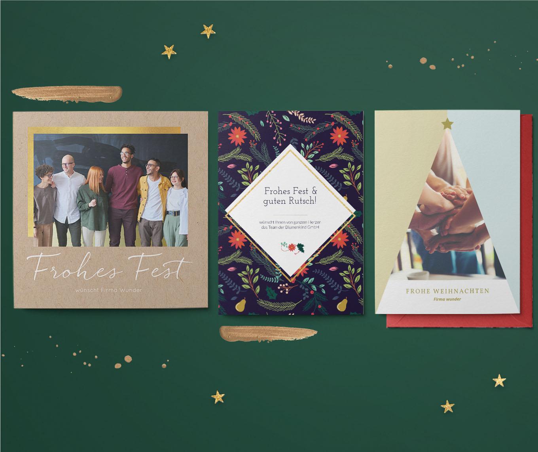 Geschäftliche Karten zu Weihnachten 2019