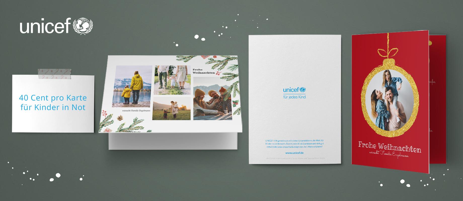 UNICEF - Weihnachtsspendenkarten
