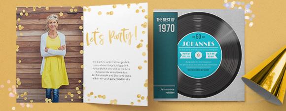 Einladungskarten zum Geburtstag