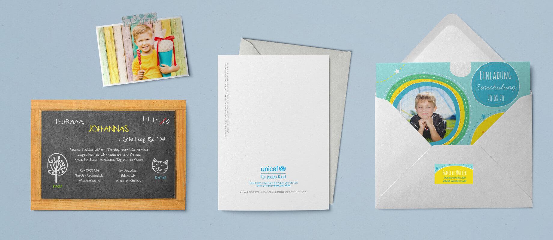 UNICEF Einschulungskarten