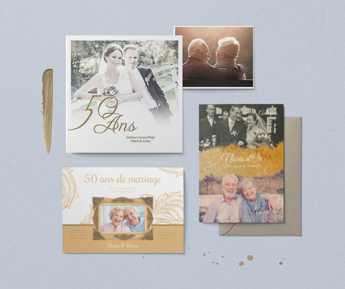 INVITATIONS NOCES D'OR