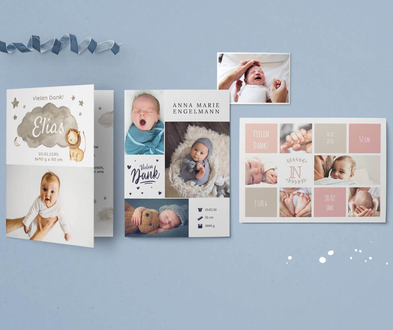 Dankeskarten zur Geburt