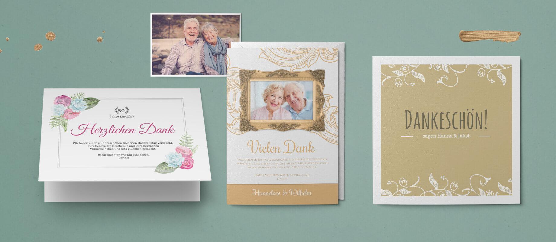 Jubiläumskarten zur Hochzeit