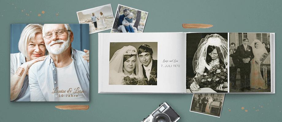 Fotobücher zum Hochzeitstag