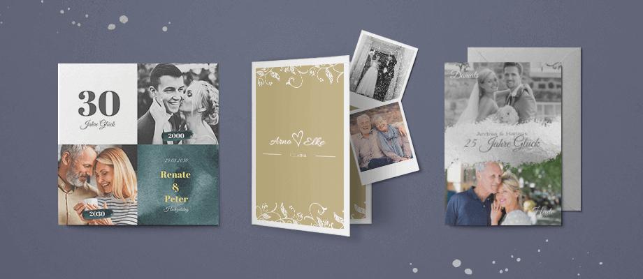 Einladungskarten zum Hochzeitstag
