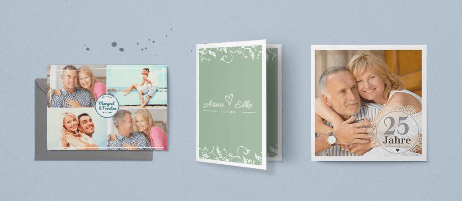 Einladungskarten Silberne Hochzeit