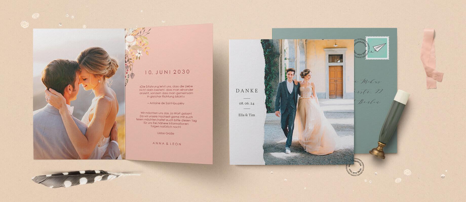 Hochzeitskarten - Wir versenden für Sie